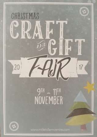 Millets Farm Christmas Craft and Gift Fair 9th – 11th November    10am –4pm