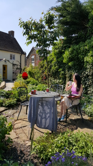 Tea in the garden during Artweeks