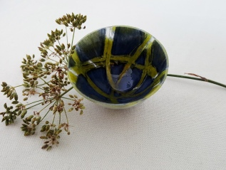 Rocking Bowl in Blue Green